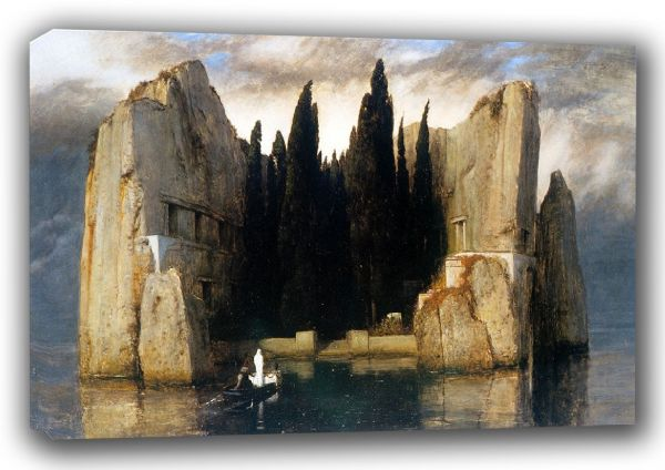 Bocklin, Arnold: The Isle (Island) of the Dead. Fine Art Canvas. Sizes: A3/A2/A1 (00865)